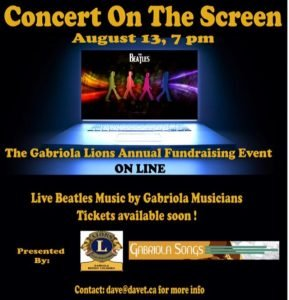 Gabriola Lions Concert on the Screen @ Online