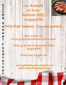 Community Hall Salmon BBQ @ Community Hall