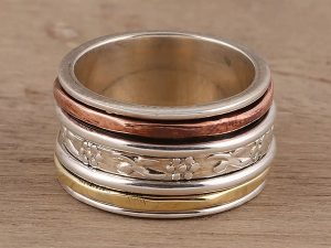 IOTA: Spinner Rings in Silver, Copper & Brass @ Gabriola Arts & Heritage Center